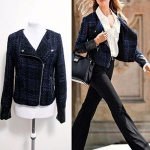 Victoria's Secret Tweed Faux Leather Jacket
